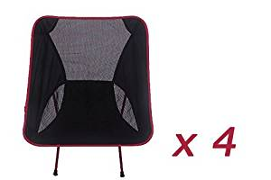 Zero profit selling Ultra light red outdoor leisure back chair Aluminium alloy Folding outdoor chair XD-215-R