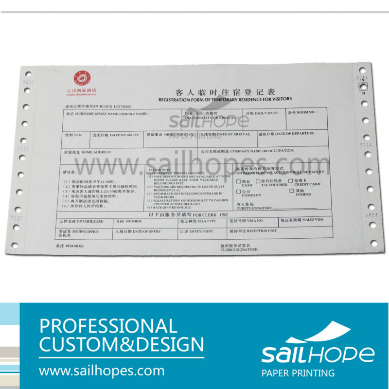hotel bill carbon invoice book carbon custom hotel booking receipt