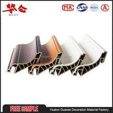 New building material free sample custom pvc wall clip decorative wood pvc ceiling cornice