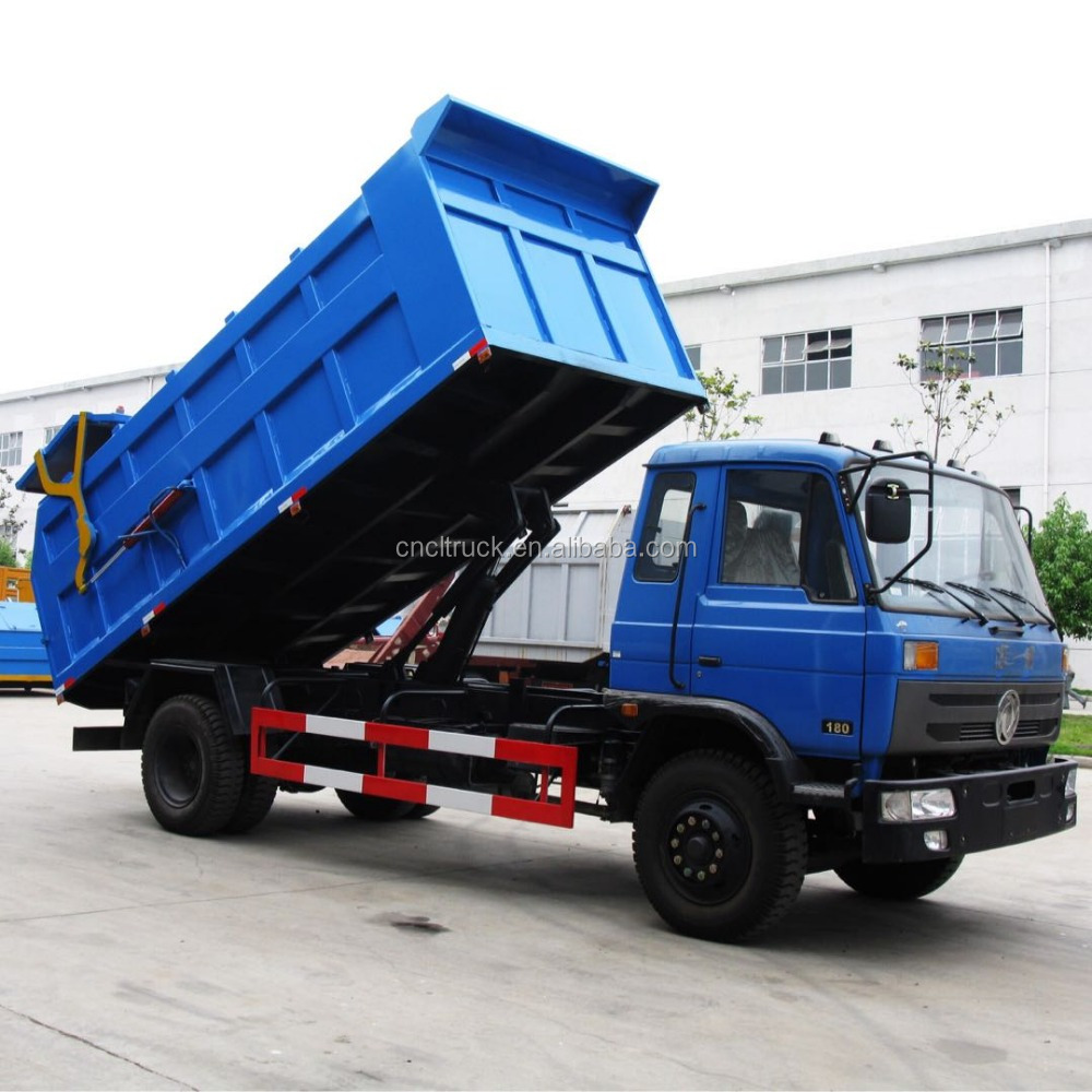 Dongfeng 153 compressed garbage truck model docking type garbage truck of after loading