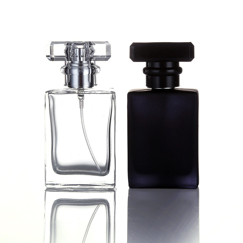 30ml <strong>Empty</strong> Refillable Square Glass <strong>Perfume</strong> <strong>Bottle</strong> With Ps Cap