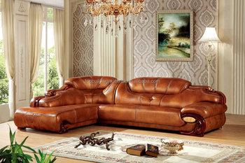 american style mini sofa italian genuine leather small corner sofa made in china