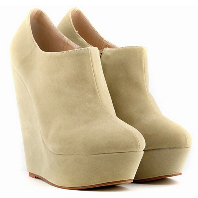 b8996d9acfc Get Quotations · 2015 New Brand Spring Women Ankle Boots Heels Fashion  Platform Suede Boots High Heels Pumps Shoes