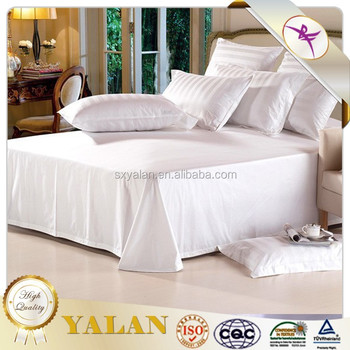 white bed sheets for hotels and hospitals