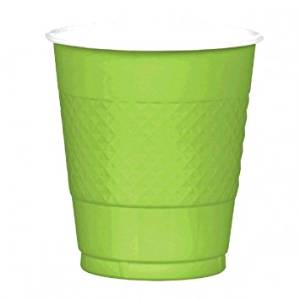 Kiwi Lime Green 12 Oz. Plastic Cup 20 Ct-2Pack