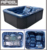 Hot sale new massage pool 3 person spa bathtub outdoor family acrylic balboa system