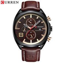 Модные мужские кварцевые часы CURREN с аналоговым циферблатом и датой, многофункциональные и водонепроницаемые часы, модель 2019 года(Китай)
