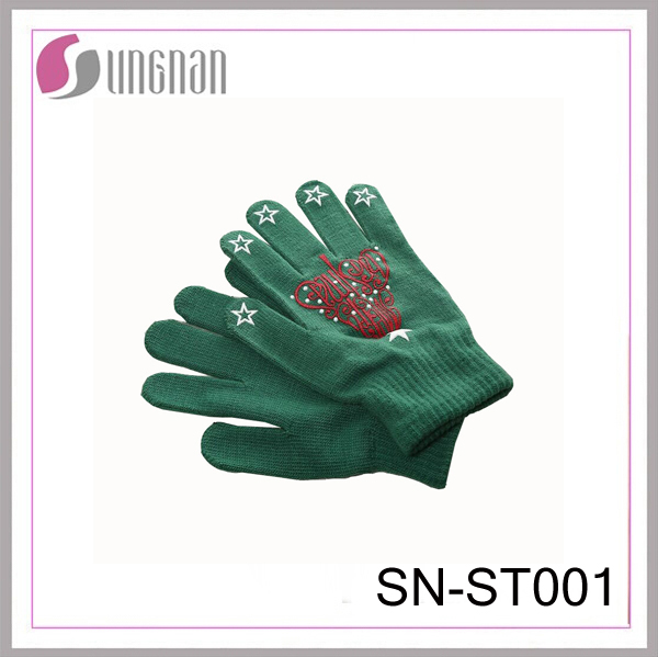 Christmas knitted gloves decoration gift touch screen gloves