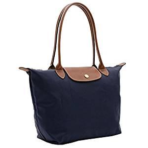 Get Quotations · LONGCHAMP Large Le Pliage Nylon TOTE Shoulder Bag-Navy Blue