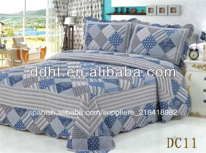 de algodn a cuadros de patchwork conjuntos de ropa de cama de patchwork