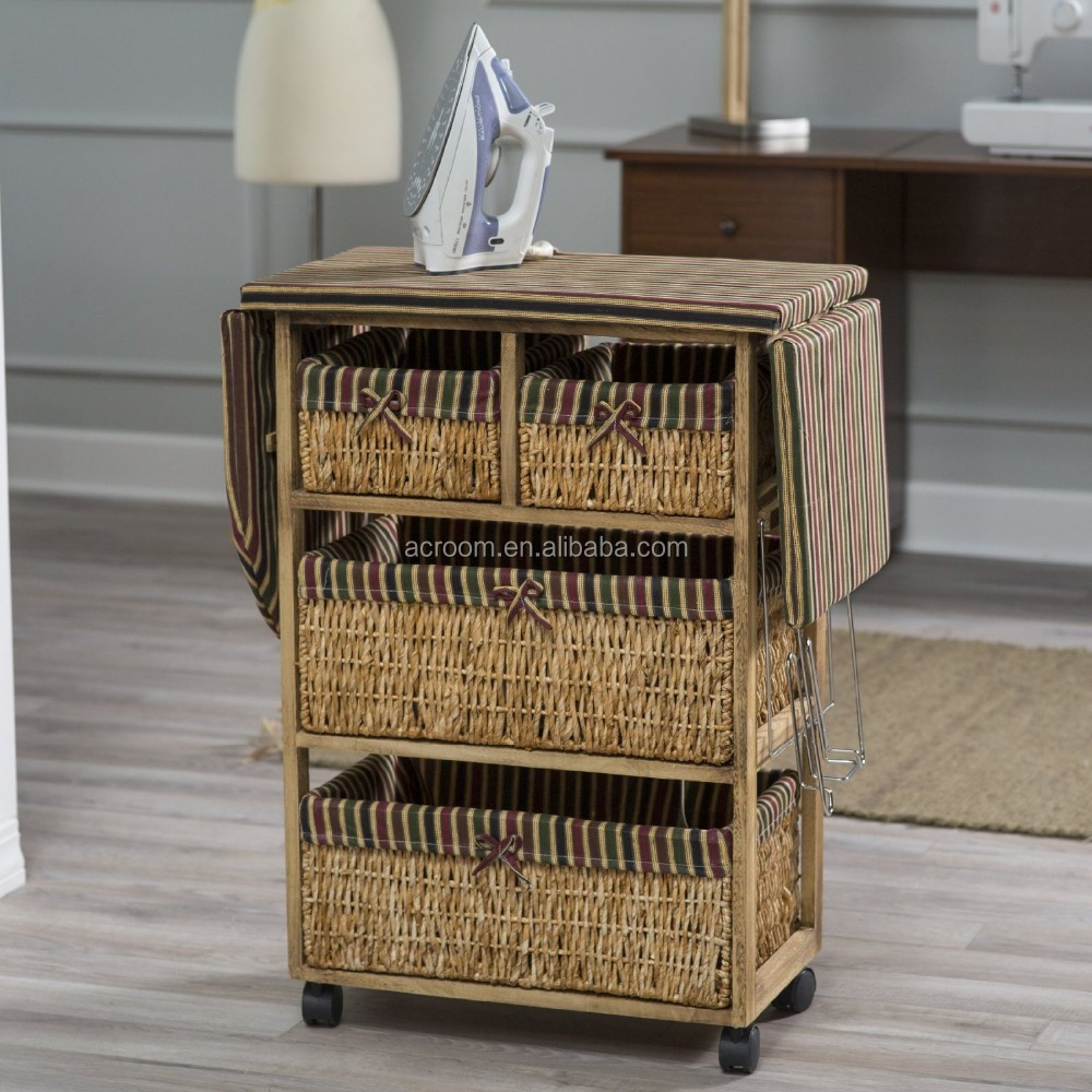 Wholesale Wooden Folding Ironing Board Cabinet With