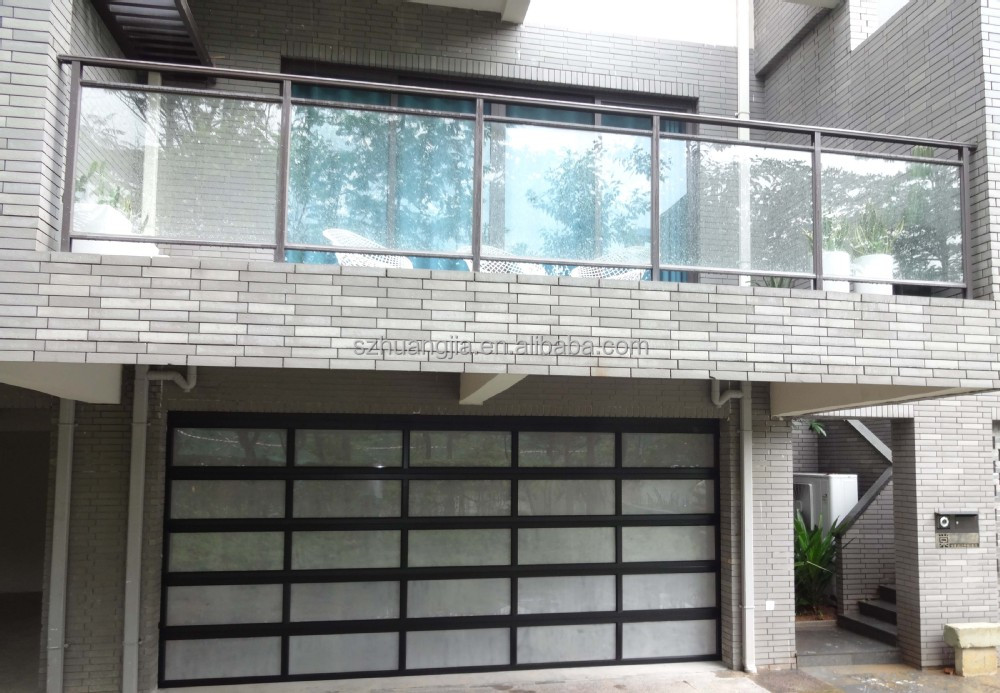 Auto Frosted Folding Glass Garage Dooraluminium Profile For