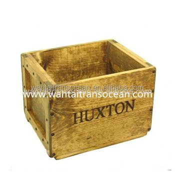 Rustic Wooden Dog Toy Box Vintage Crate Cat Wedding Card Keepsake