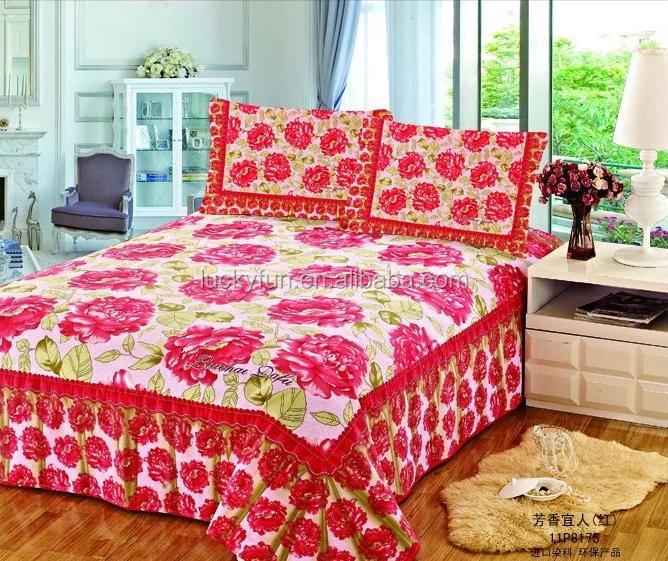 Groothandel laken polyester en katoen beddengoed set dekbedovertrek set beddengoed set product