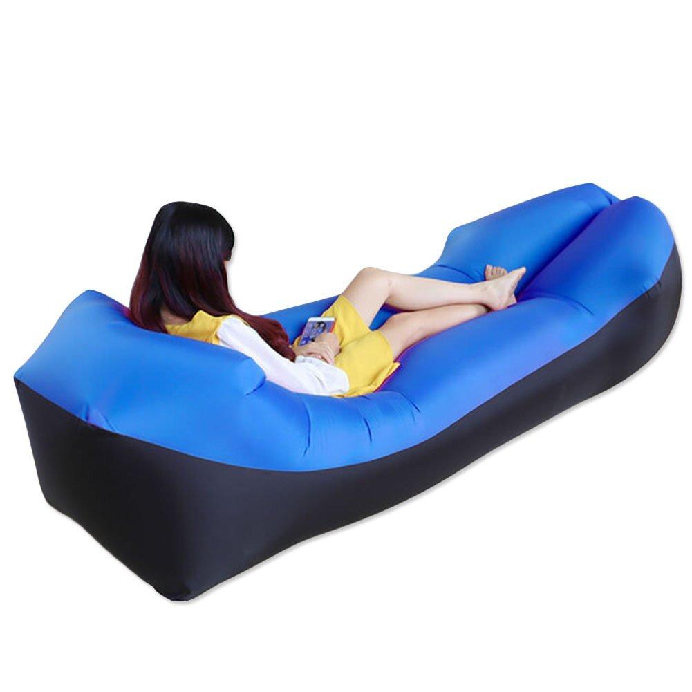 Fast Inflatable Camping Sleep Bed Air Sofa Beach Bed Banana Lounger Lazy Air Bed