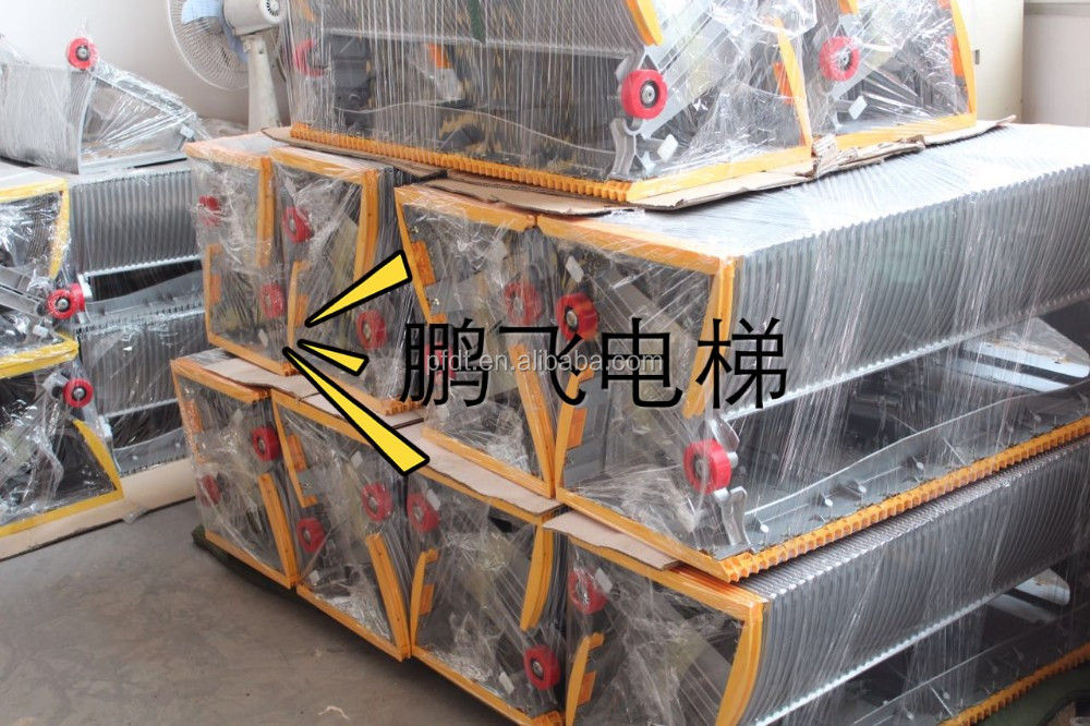 special escalator alloy aluminum step parts with service pool