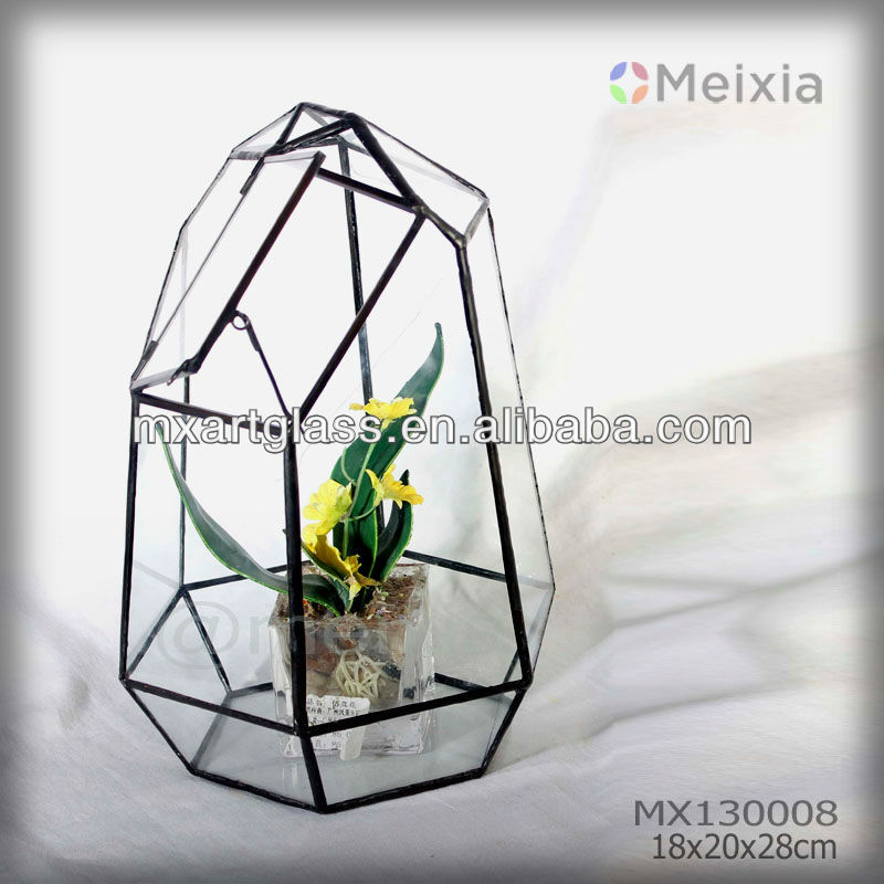 Mx130008 China Wholesale Tiffany Style Stained Glass Terrarium