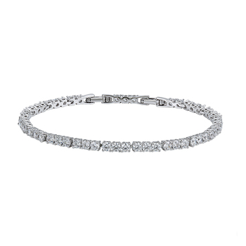 76444 Xuping fashion luxury women white gold color jewelry colorful zircons tennis bracelet