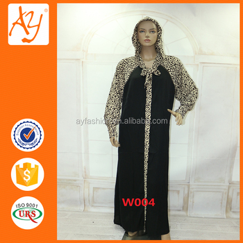 66ceae65bd9af Maxi Length Hoodies Pullover Muslim Dress Arabic Abaya Designs With Leopard  Print - Buy Hoodies Pullover,Leopard Print,Arabic Abaya Designs Product on  ...