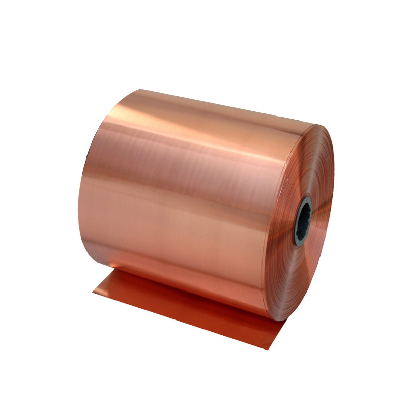 With copper sheet strip