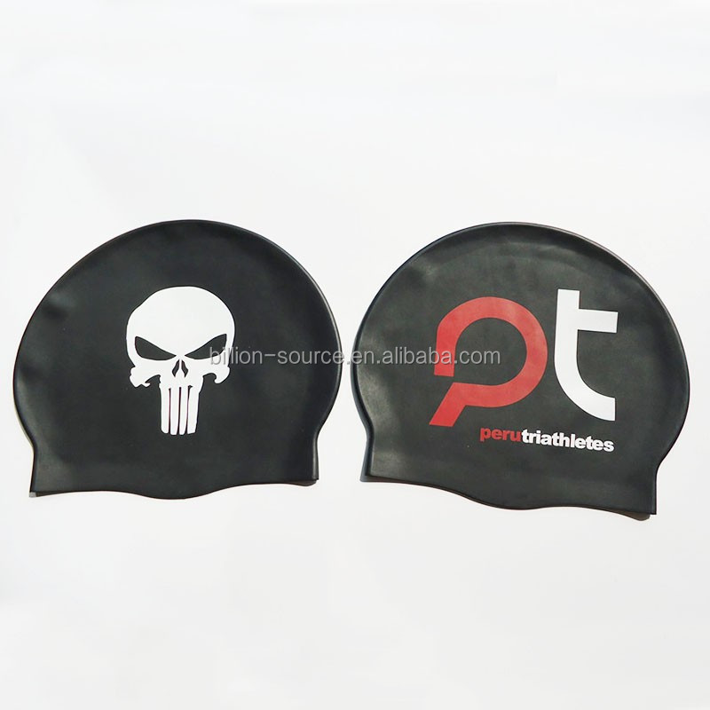 soft silicone material Custom Printed Swim Team Caps