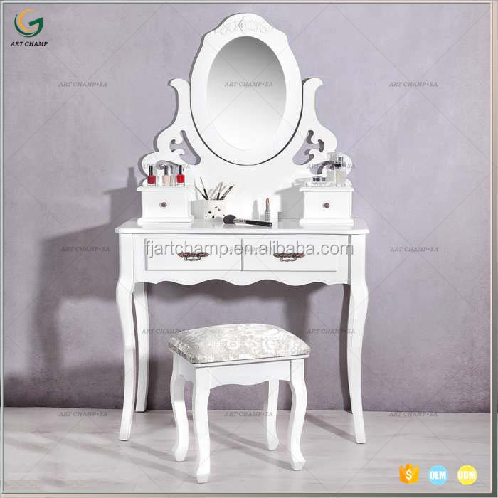 Small Makeup Desk Tabletop Vanity Mirror Table Without
