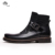 Fashion style cowboy design cow leather made men leather boots