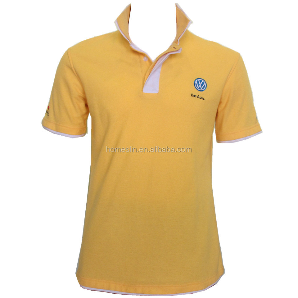 Cool Style Design Embroidered Contrast Stand Collar Polo Shirt Buy