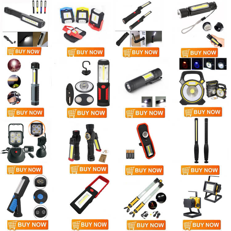 Xiesheng YG-468 COB Torch Light 1000LM Inspection Lamp Pocket Flashlight Zoomable LED USB Rechargeable Led Magnetic Work Light