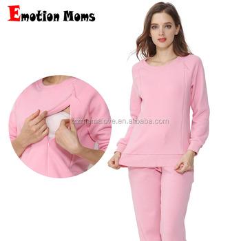 1c9b50606 La emoción de las madres de lana térmica de invierno tamaño largo ropa de  lactancia de