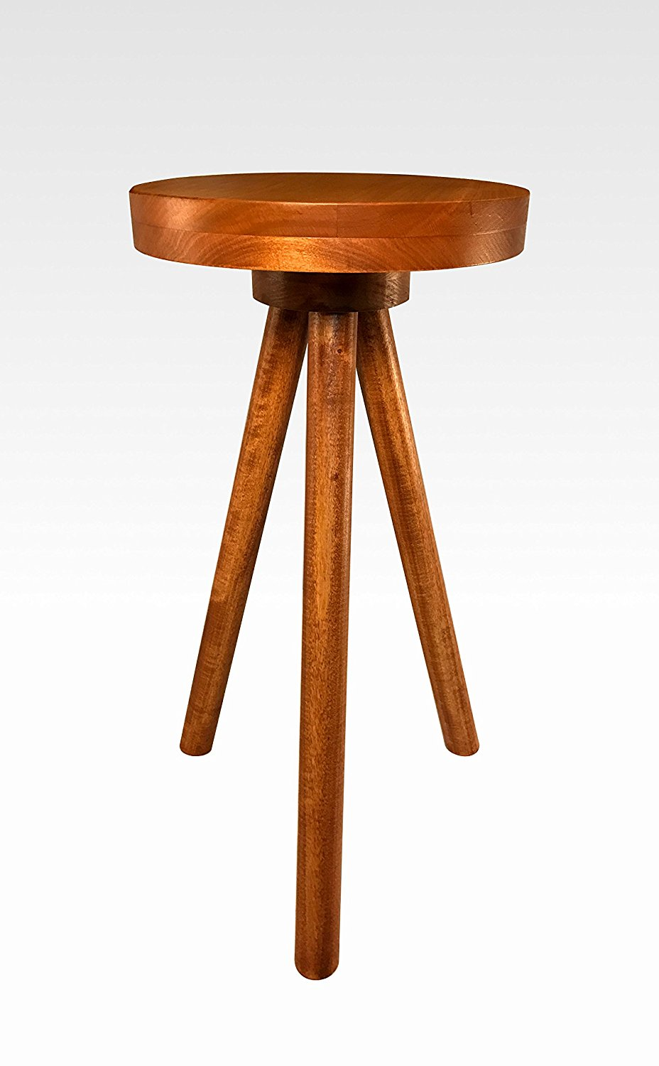 Modern Side Table in Cherry by Candlewood Furniture End Table Bar Stool, Bedside Table, Nightstand, Wood, Wooden, Three Legged Table