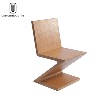 Gentil Replica Gerrit Rietveld Dining Table And Chair Colorful Wooden Zig Zag  Chairs