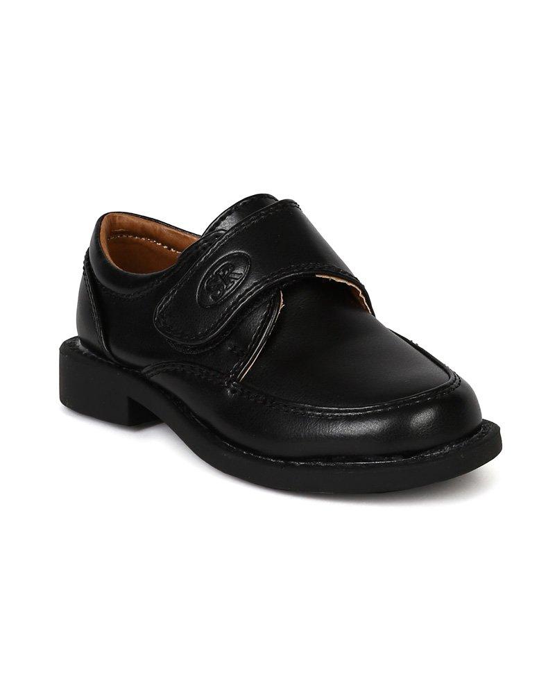 791690d2c Buy Auston AH59 Leatherette Velcro Buckle Strap Dress Church Shoe ...