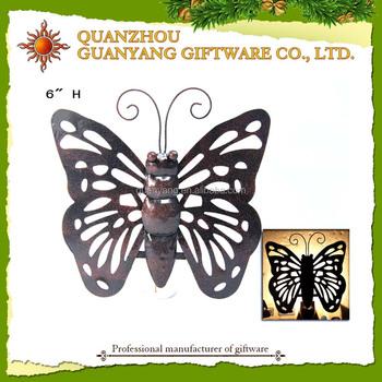 Metal Butterfly Night Light For Kids Decoration Lantern