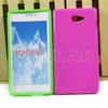 Various solid color simple design tpu case for Sony M2 D2303