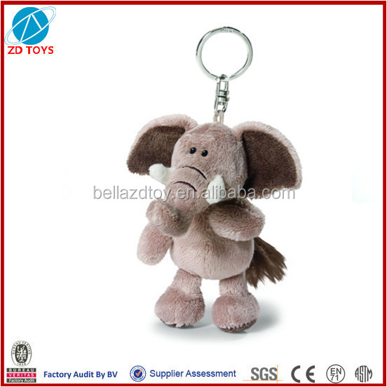 stuffed plush toy keyring elephant
