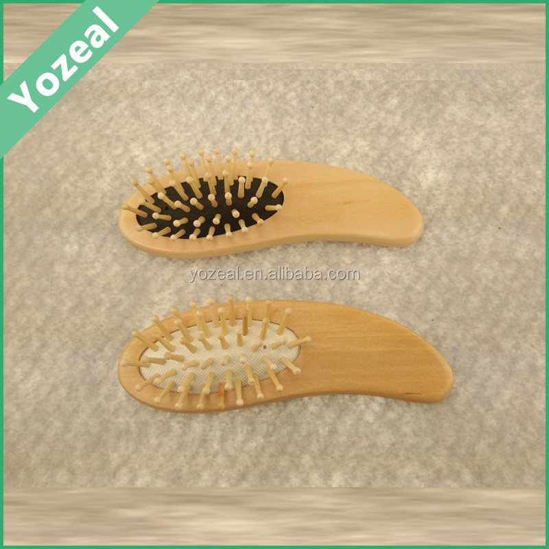 Natural mini baby hair brush with high quality
