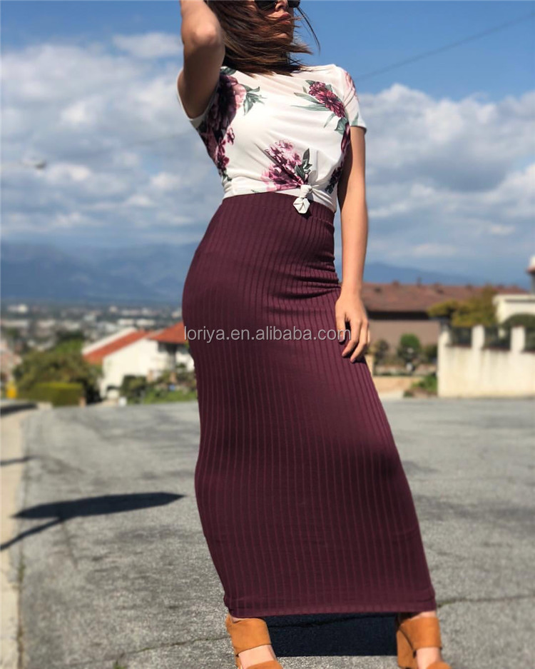New  2019 Turkish Islamic Half Long Stretcy Skirt Women Maxi Tight Skirt