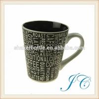 Straight Body Ceramic New Bone China Round Decal Coffee Mug