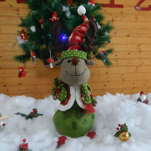 38CM standing reindeer indian christmas decorations gifts