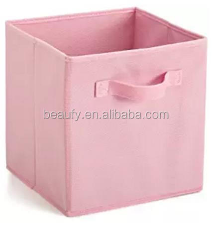 Foldable Cube Storage Bins 6 Pack These Decorative Fabric Cubes Are Collapsible Canvas Basket Kids