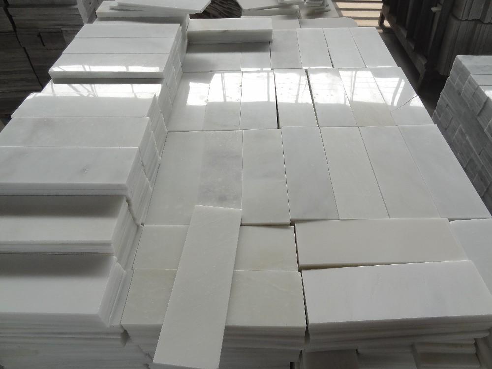 Tumbled And Honed Carrara White 3x6 Subway Marble Tile Buy Subway