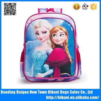 Children students backpack kids school bag frozen backpack for kids girls