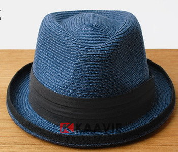 Classic Ivory Straw Panama Cuban Round Wide Flat Brim Fedora Hat Cap ... 8db59fd538e