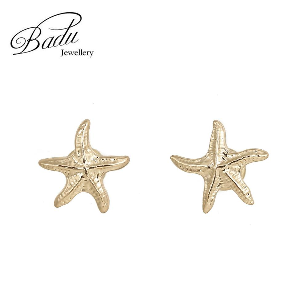 starfish bijoux gold ear studs gold ear piercing earring