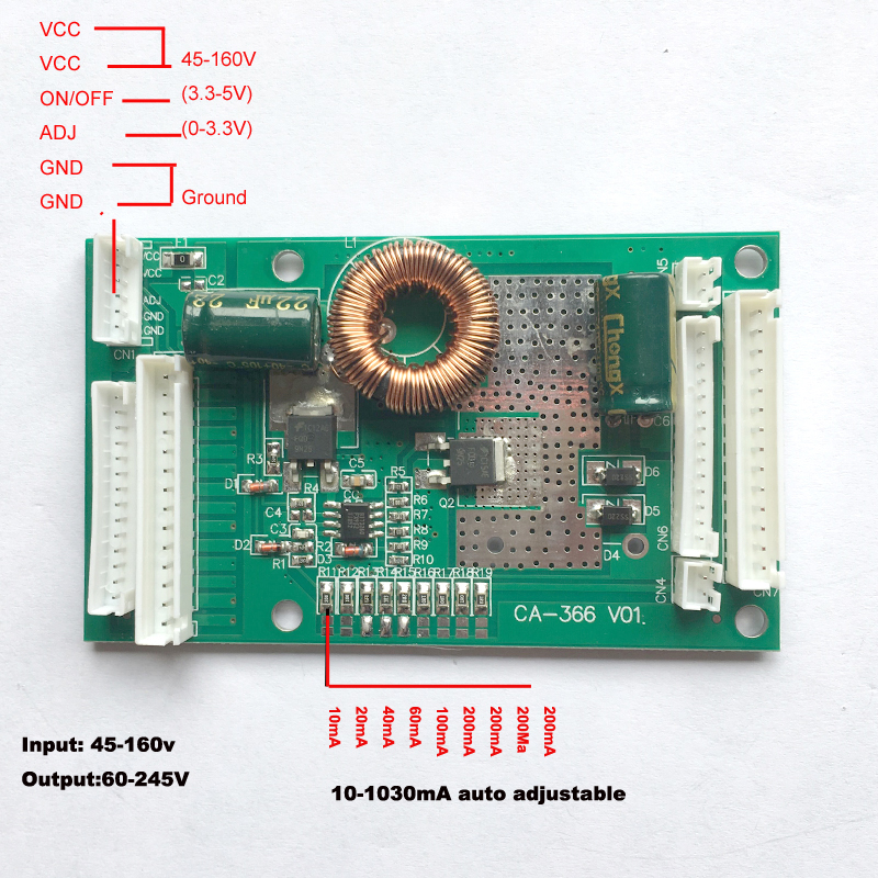 "CA-366 26"" to 55"" inch lled backlight inverter driver board constant current board led universal inverter"