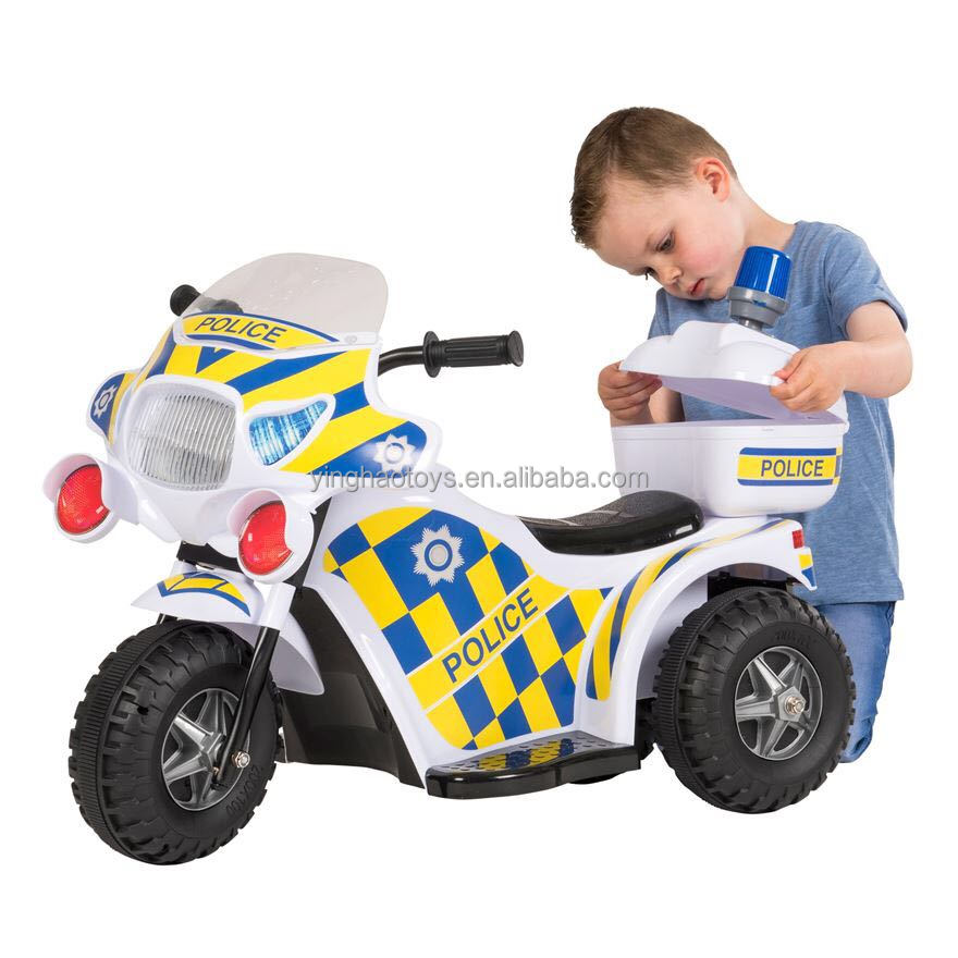 6V Battery Operated Ride On Kids Police Motorcycle