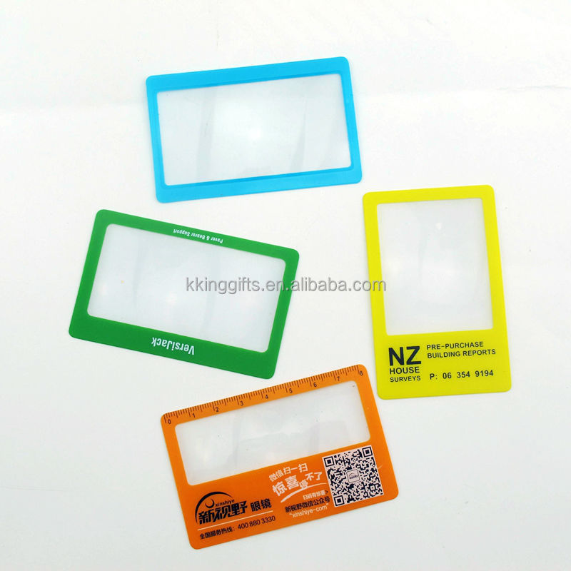 Factory wholesale oem custom credit card size pocket digital magnifying glass