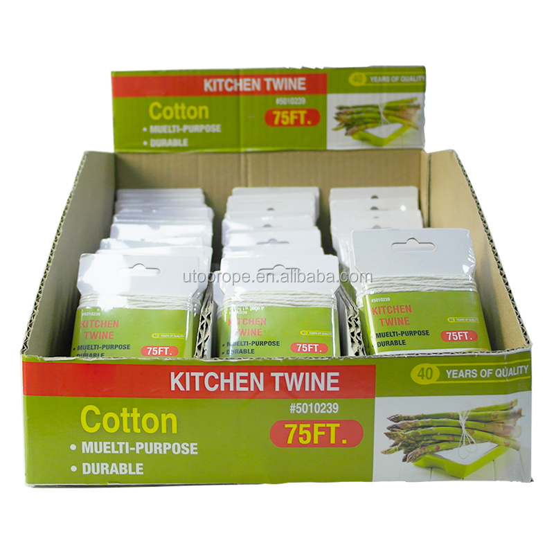 kitchen tools 75feet cotton food grade twine for tie up a turkey