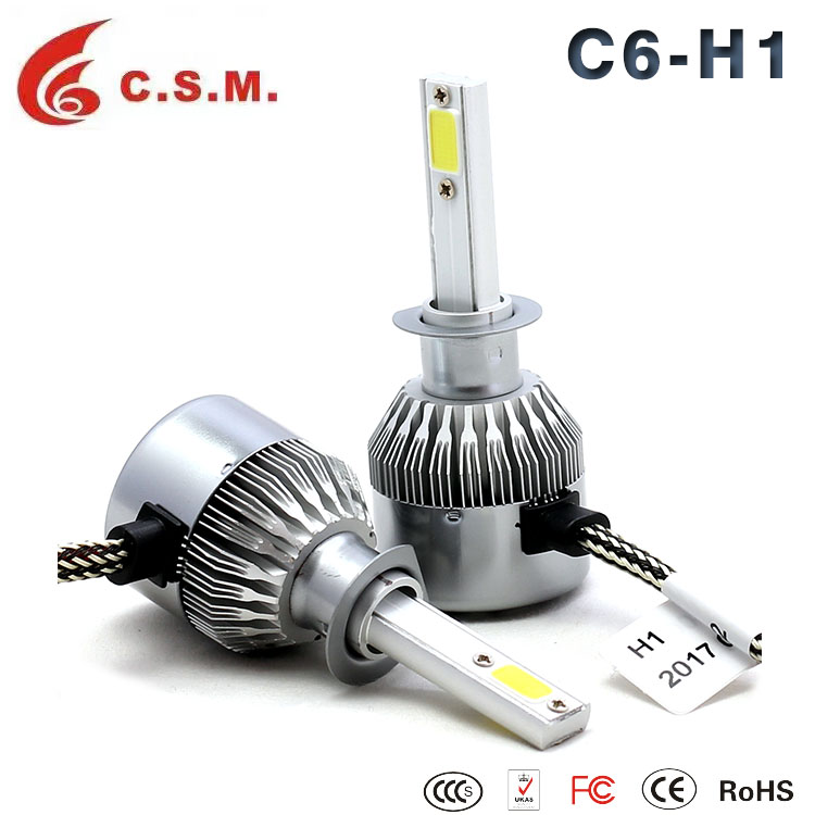 Factory New Coming C6 series 30W Headlight LED Car H1 Auto Led Lighting 9004/9007 48w Headlight Led Car Fog Light